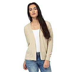 Maine New England - Natural pointelle knit cardigan