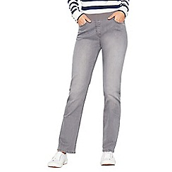 Maine New England - Grey ribbed waistband jeggings