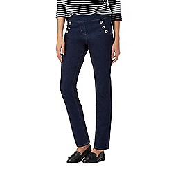 Maine New England - Dark blue side sailor button jeggings