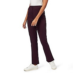 Maine New England - Plum bi-stretch trousers