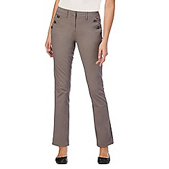 Maine New England - Taupe button detailing stretch trousers