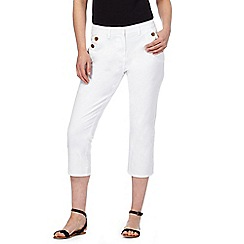 Maine New England - White cropped trousers