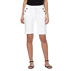Maine New England - White button shorts