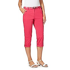 Maine New England - Pink cropped chino trousers