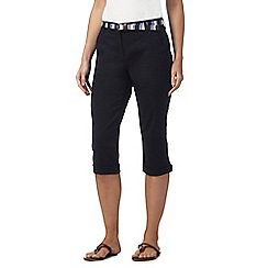 Maine New England - Navy cropped chino trousers with belt