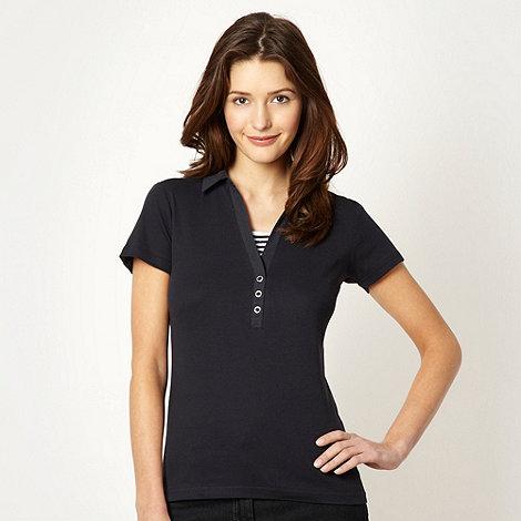 Maine New England - Navy plain collar t-shirt - size 16