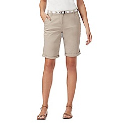 Maine New England - Natural belted chino shorts