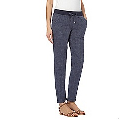Maine New England - Navy peg leg trousers