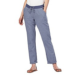 Maine New England - Blue linen peg leg trousers