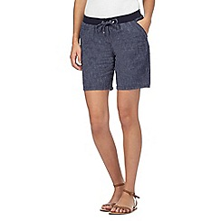 Maine New England - Navy linen blend shorts