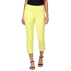 Maine New England - Yellow cropped jeans