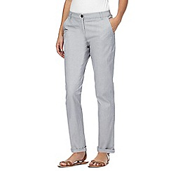Maine New England - Blue striped chino trousers