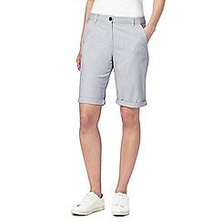 Maine New England - Blue striped chino shorts