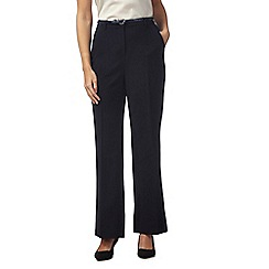 Maine New England - Navy 'Pablo' trousers with leatherette belt