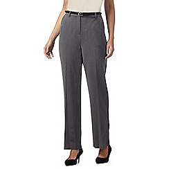 Maine New England - Grey 'Pablo' trousers with leatherette belt