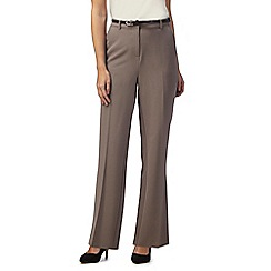 Maine New England - Beige 'Pablo' trousers with leatherette belt