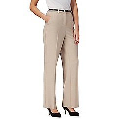 Maine New England - Natural 'Pablo' trousers with leatherette belt
