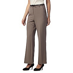 Maine New England - Taupe 'Pablo' trousers with leatherette belt