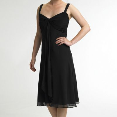 Chiffon little black dress