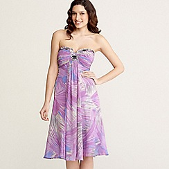 Principles by Ben de Lisi - Purple swirl embellished babydoll dress
