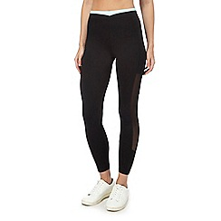 Nine by Savannah Miller - Black mesh panel leggings