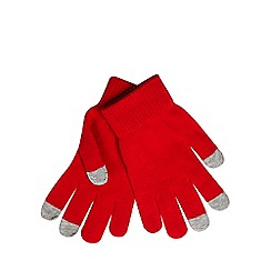 Red Herring - Red touch screen gloves