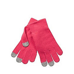 Red Herring - Pink touch screen gloves