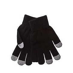 Red Herring - Black touch screen gloves