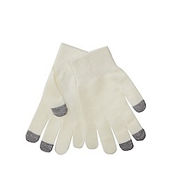 Red Herring - Cream touch screen gloves