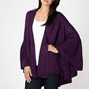 Purple ruffled hem wrap