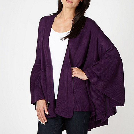 The Collection - Purple ruffled hem wrap