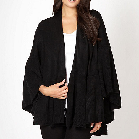 The Collection - Black ruffle trim wrap