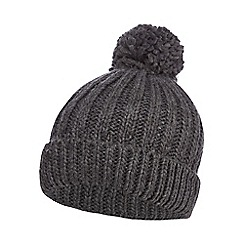 Red Herring - Grey knitted pom pom hat
