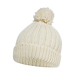 Red Herring - Cream knitted pom pom hat