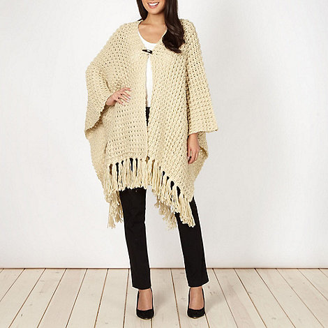 The Collection - Natural chunky knit wrap