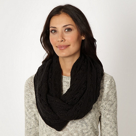 The Collection - Black flower knit snood