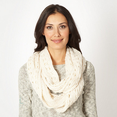 The Collection - Ivory flower knit snood