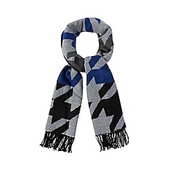 Red Herring - Blue oversized houndstooth scarf