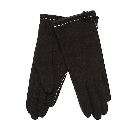 The Collection - Black contrast stitched gloves