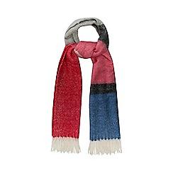 Red Herring - Multi-coloured block stripe scarf