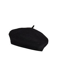 Red Herring - Black wool beret
