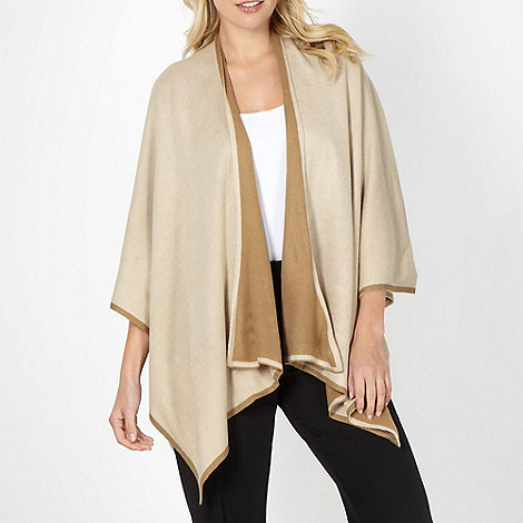 Principles by Ben de Lisi - Designer camel two tone border wrap