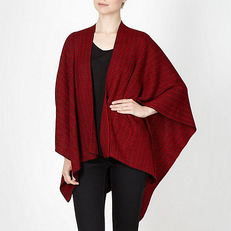 Principles by Ben de Lisi - Designer red chevron knit wrap