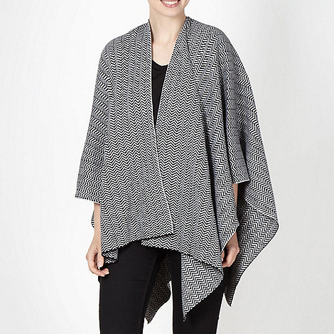 Principles by Ben de Lisi - Designer black chevron knit wrap