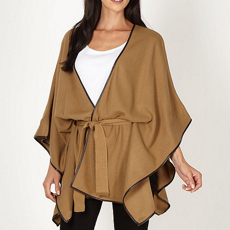 Principles by Ben de Lisi - Designer camel piped edge wrap cardigan