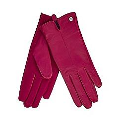 J by Jasper Conran - Pink leather gloves