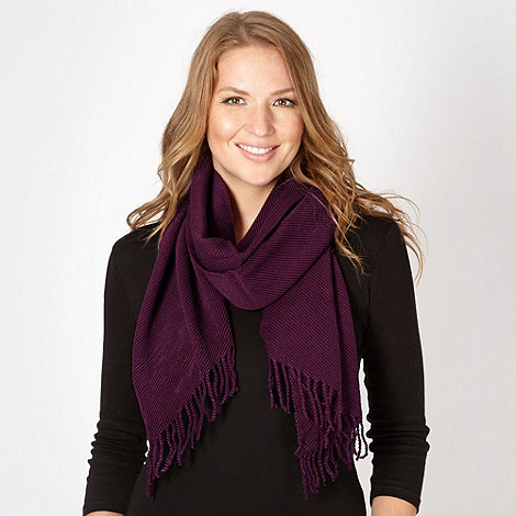Principles by Ben de Lisi - Designer plum pleated scarf