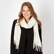 Designer cream pleated scarf