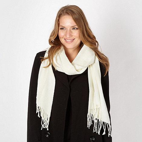 Principles by Ben de Lisi - Designer cream pleated scarf