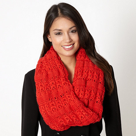 Principles by Ben de Lisi - Designer red multi knit snood
